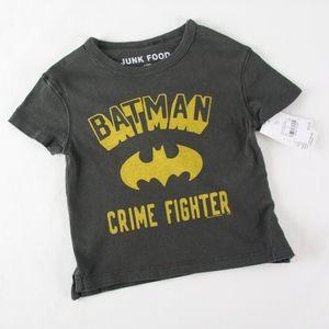 BATMAN Boys 12 mo Grey & Yellow Tee Shirt NEW